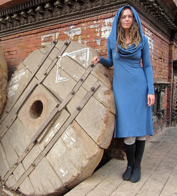 ORGANIC Women's Super Cowl Simplicity Below Knee Dress ( organic tissue cotton ) - organic cotton dress