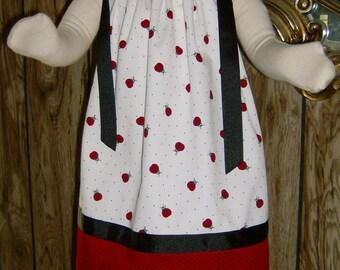 Personalized Ladybug Pillowcase Dress ~ Ladybug Ball Boutique Dress Baby or Toddler ~ Girls Sundress ~ Summer Vacation Dress ~ Beach Dress