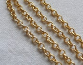 4mm Rolo Chain, Gold Plated