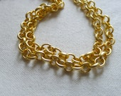 Chunky Rolo 7 x 7mm, Gold Plated