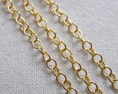 Delicate Oval Link Chain, Gold Plated