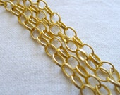 Flat Oval Chain 8mm x 5.5mm, Gold Plated