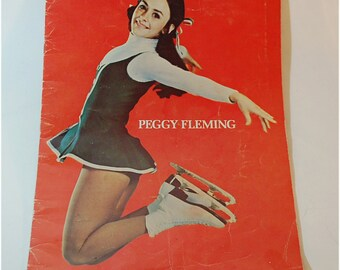 1972 signed Peggy Fleming souvenir program from the Peggy Fleming Show - A Concert on Ice Winter Olympics collectible