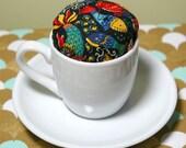 Espresso Cup Pincushion - Fish Pattern