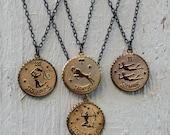 Vintage Zodiac Coin Necklaces - leo virgo capricorn sagittatius scorpio aries taurus libra gemini pisces aquarius