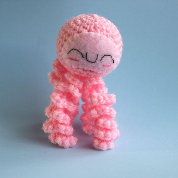 Amigurumi Pink Jellyfish Squishling