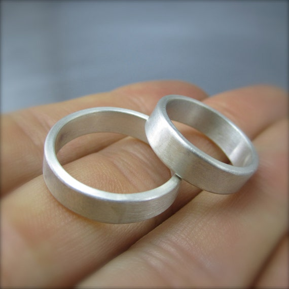 items similar to 5mm simple wedding band set on etsy