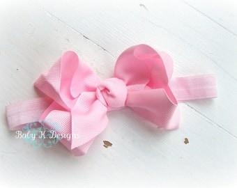 Baby Headband / Newborn Headband / Infant Headband / Girls Simple PINK Bow Headband /  Or You Pick