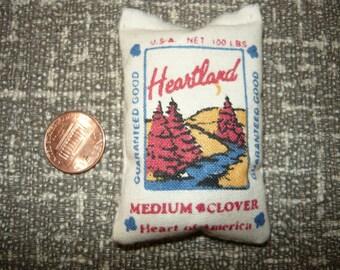 Heartland Clover Miniature Feed Bag Full Sack  1/12 Scale Dollhouse Barn