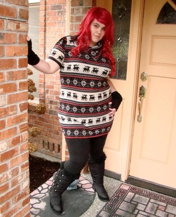 Reserved- Custom Reindeer Dress Plus Size