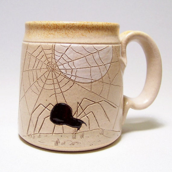Spider and Web Pottery coffee Mug  Limited Series 174 (microwave safe) 12oz
