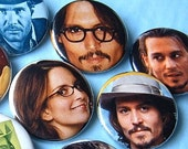 Tina Fey (and Johnny Depp) and the Boys (13) Pop Culture BuTToNs . PiNBaCKS