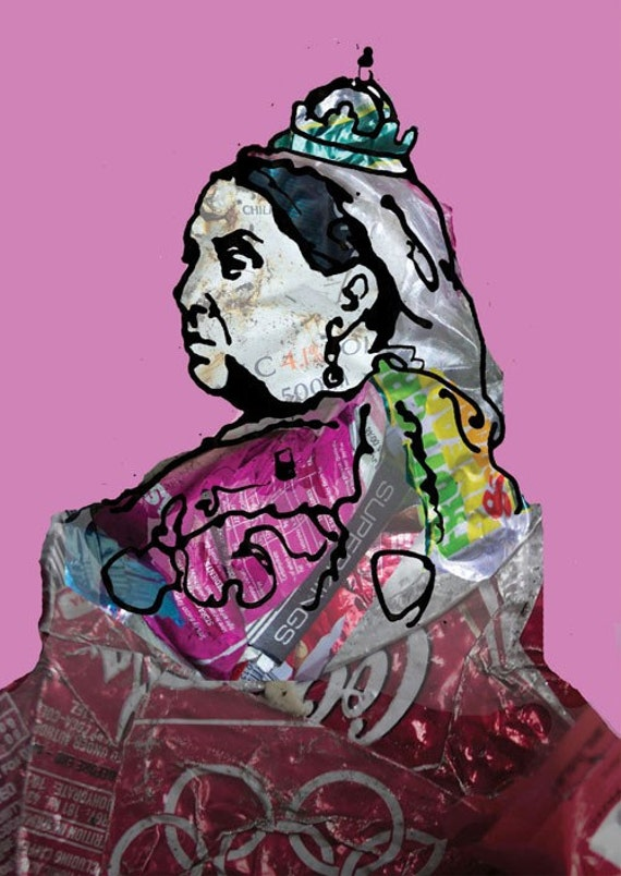 We Are Not Amused - Art Card - Queen Victoria - Illustrated Greeting Card