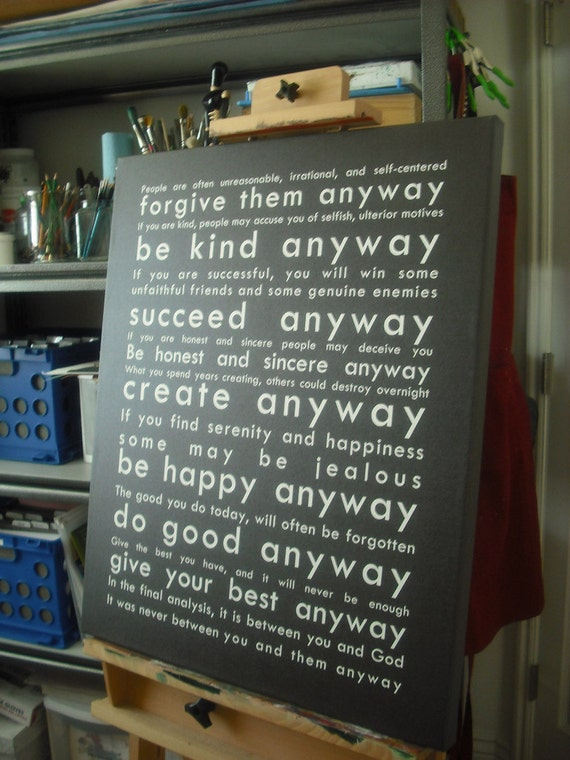 Do It Anyway - 24x30 Canvas Print