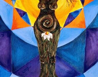 Gaia Tree - 8x10 Fine Art Print