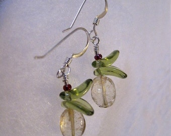 Pale Citrine Baby Orchid Earrings
