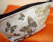 Butterfly Stamp on a  zipper Pouch