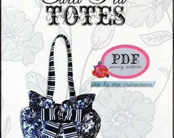 SCRUNCHIE SHOULDER BAG  pdf Sewing Pattern / Sweet Pea Totes