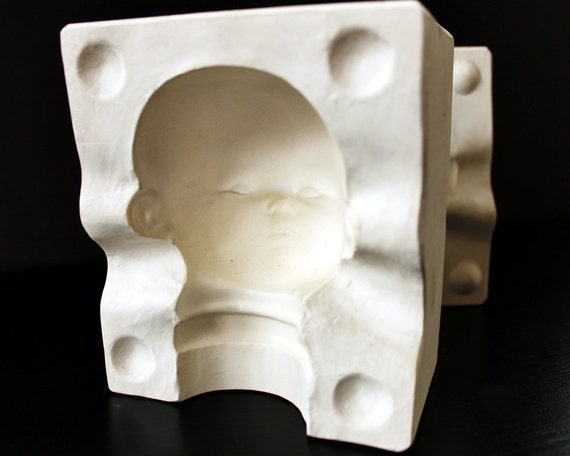 Plaster Mold - Baby Doll Head - Vintage