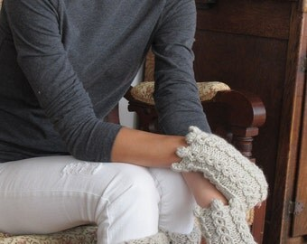 Boot Cuffs & Wrist Warmers, knit in the round in worsted weight or bulky yarn. Pdf knitting pattern
