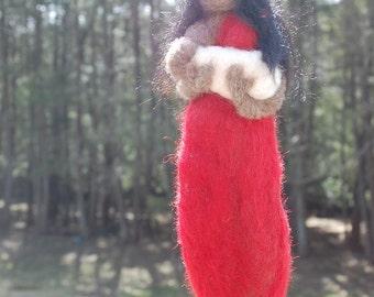 Dark Skinned Wool Breastfeeding Doll