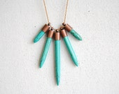 Turquoise Dagger Necklace - FREE US Shipping