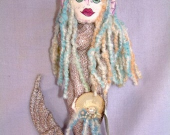 Minette the Mermaid, Wall Hanger Art Doll no. 28
