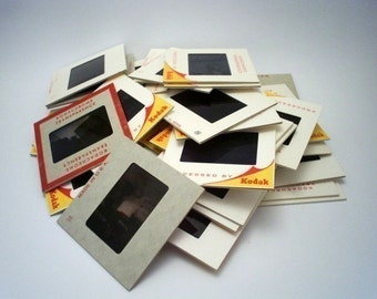 Vintage 35mm Slides in Cardboard Frames - Lot of 50 - Vintage Photo Slides - Picture Slides for Altered Art