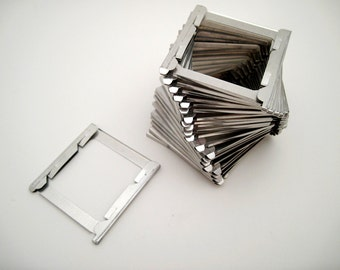 Vintage Metal Slide Frames - 35mm Slides - Set of 25