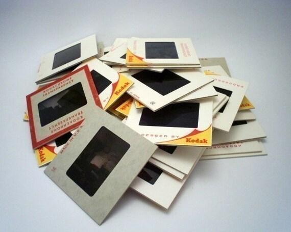Vintage 35mm Slides in Cardboard Frames - Lot of 100