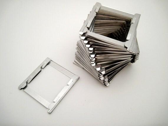 Vintage Metal Slide Frames - 35mm Slides - Set of 25