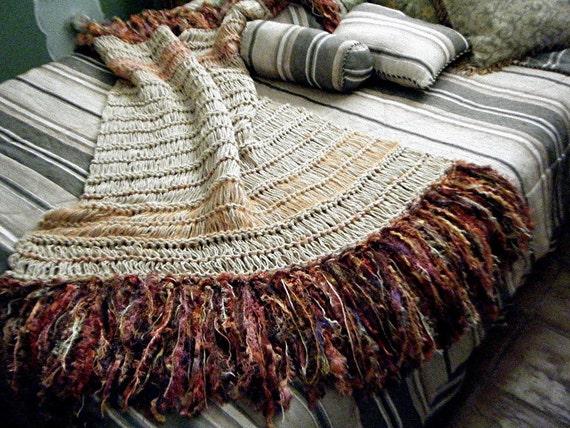 Southwestern Throw Blanket Orange, Brown Home Decor Accessories Accent