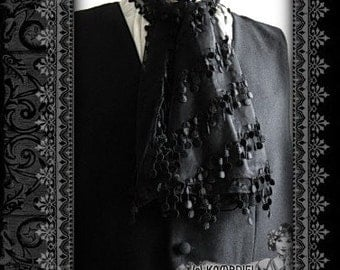 Sinister Elegance - Black Decadence Ascot by Kambriel - Brand New & Ready to Ship - Last One!