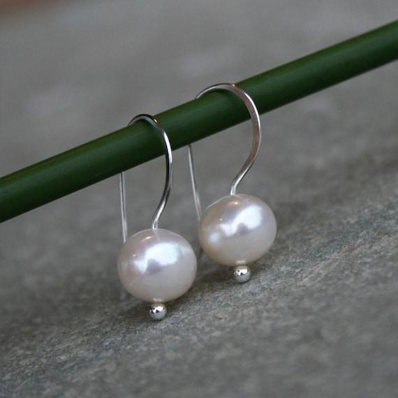 Pearl Earrings Sterling Silver White Pearls
