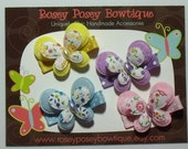 RPB Spring Essentials Set of 4 Social Butterfly Girls Hair Clips - Pastels