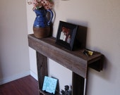 Farmhouse Console Table Small Table Recycled Wood Furniture Wall Table 30x7x30 apartments or Entry Way Table Small Space Skinny Table