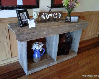 Large Console Table Country Home Table. Rustic Table Large Wood Table Rustic Furniture Recycled Wood Table. Cabin Beach House Farmhouse