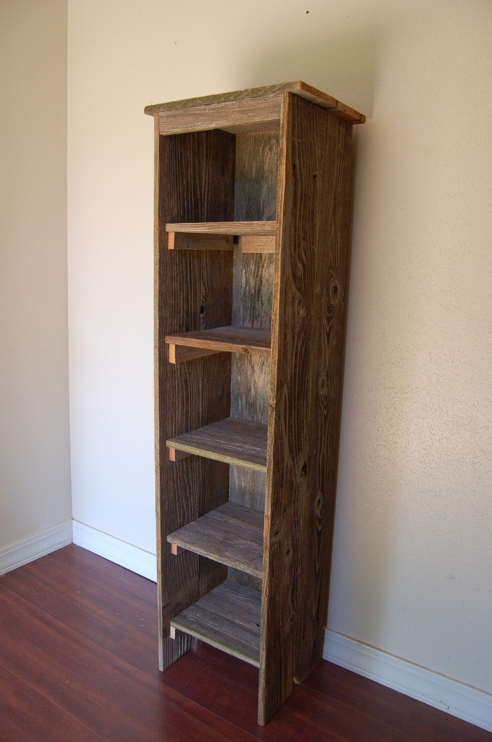 long farmhouse shelf wood bookcase tall by trueconnection on etsy. Black Bedroom Furniture Sets. Home Design Ideas
