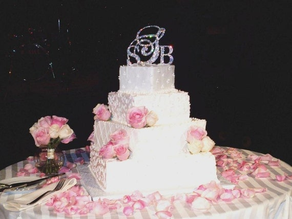 Triple Monogram Cake Topper Set any letter from the Alphabet Special Offer 10% DISCOUNT