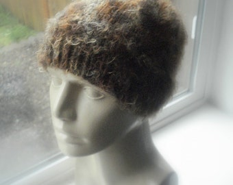 Pixie Beanie in Shades of Chocolate Brown a Very Soft Hat Skull Cap Silky to The Touch - No Itch Fiber Blend