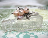 Freshwater pearl ring, Adjustable statement ring, Charm ring