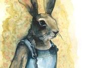 Aunt Bunny - Rabbit Art  large print