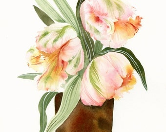 Parrot Tulips Print