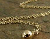 Minimalist Dainty Gold Necklace, Gold Filled Necklace, Simple Gold Necklace Dainty Chain, Minimal Necklace, Gold Necklace Bead Organikx