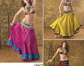 Diy Pattern-Belly Dance Tribal Pattern-Bra,Fringe Belt,Circle Ruffle Skirt Pattern-Simplicity 2158 Size 6-12