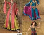 Diy Pattern-Belly Dance Tribal Pattern-,Fringe Belt,Turkish Coat Pattern-Simplicity 2159-Plus Size