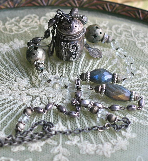 Salvage Vintage Necklace- Lucky Number Thirteen