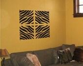 Wall Decal Zebra Stripes 4 panel set  04 Vinyl Wall Art decal sticker