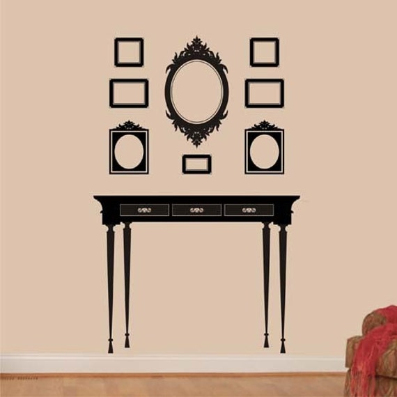 Items Similar To Wall Decal Victorian Frame Arrangement