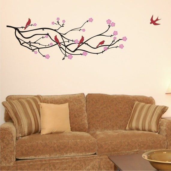 Wall Decal A Cherry Blossom Branch For By Chuckebyrdwalldecals